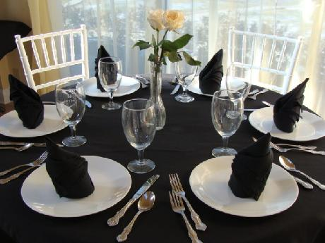 Our upscale flatware, glassware, and china are included with our catered packages. So, wow your guests while staying within your budget.